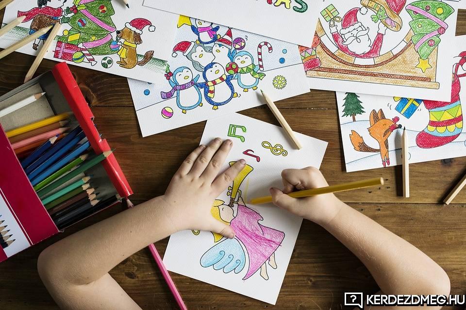 Ha színez a gyerek, az fejleszti a kreativitást.